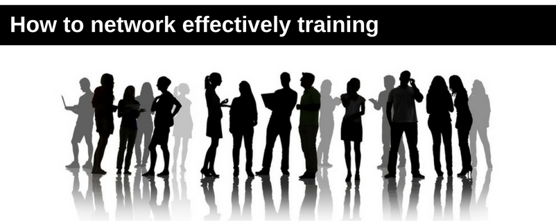 How to network effectively training banner
